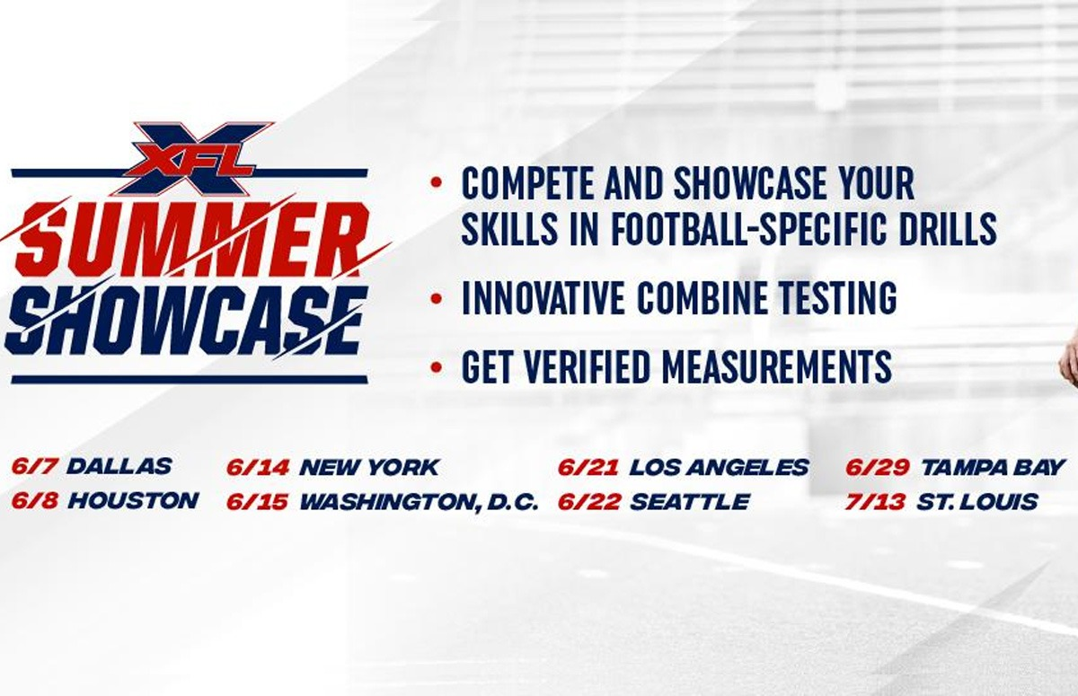 More details on the XFL Summer Showcase, confirmed open to the public