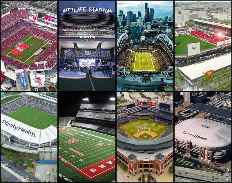 Getting to know the XFL Stadiums