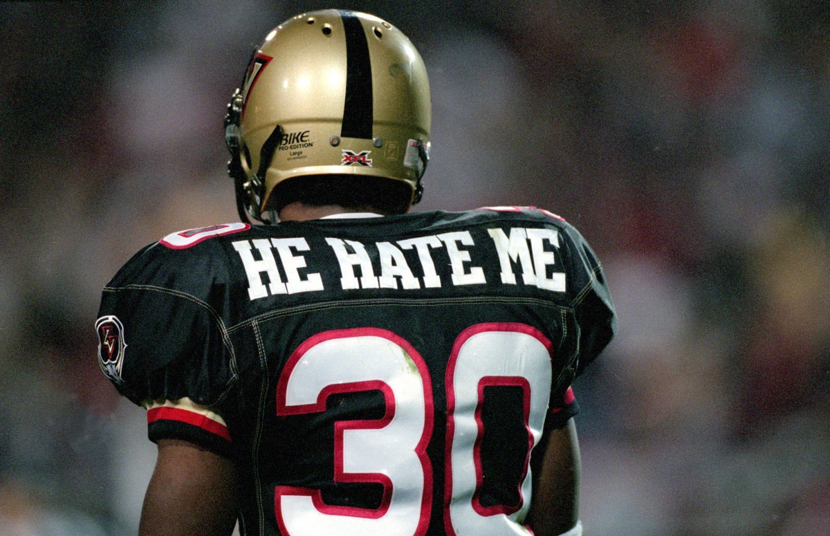 "XFL actively pursuing trademark for ""He Hate Me"""